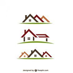 exclusive design real estate house logo compatible free business rh pinterest com