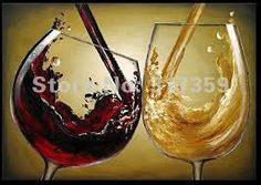 paintings of wine bottles and glasses - Google Search