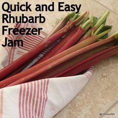 rhubarb jam (sugar and rhubarb only)
