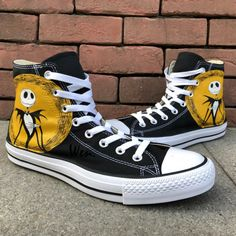 e22b766655d1 Hand Painted Shoes Converse Nightmare Before Christmas Canvas Sneaker