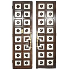 1930s Hollywood Regency Double-faced Coffered Doors