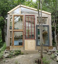 The Art Of Up-Cycling: DIY Greenhouses, Build A Green House From Windows, Doors and A Little Imagination....