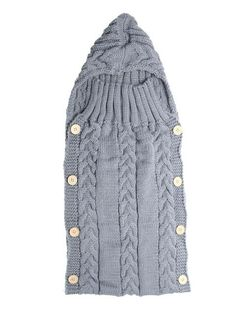 Features: Hoodie swaddle wrap for your sweet baby. Warm wool knitted sleeping bag, wrap that baby in something as cute as him. Button design for easy and conven Swaddle Wrap, Baby Swaddle Blankets, Knitted Blankets, Crochet Cocoon, Crochet Baby, Knitted Baby, Kids Sleeping Bags, Wearable Blanket, Baby Shop Online