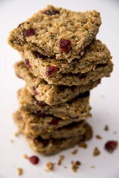 Debbie Adler's #glutenfree #vegan #sugarfree Sweet Cranberry Hemp Bars from her award-winning cookbook Sweet Debbie's Organic Treats: Allergy-free and Vegan Recipes from the Famous Los Angeles Bakery. http://amzn.com/0373892829