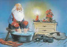 ©by Johnnie Jacobsen Lucky Charm, Goblin, Gnomes, Troll, Christmas Cards, Fairy, Santa, Pictures, Painting