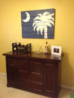 36″ wide by 28″ tall Custom Palmetto Moon Plank that I made for Leslie H.