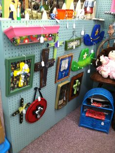 Upcycled Framed Crosses and wall Decor.