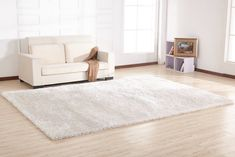 off white shag rug White Shag Rug, White Area Rug, Beige Area Rugs, New Furniture, Bedroom Furniture, Bedroom Storage, King Beds, Bed Sizes, Cool Rugs