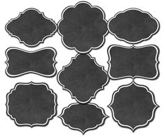 Chalkboard clipart frames clipart borders Chalkboard frame Digital chalkboard labels chalkboard tag digital label diy by DigitalCSPrintables on Etsy https://www.etsy.com/listing/236090067/chalkboard-clipart-frames-clipart