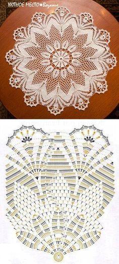 Doily atrapasueños tapete crochet häckeln ganchillo