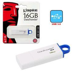 Memoria Externa Pendrive de 16 GB USB 3.0 Kingston - https://complementoideal.com/producto/almacenamiento/pendrive-16-gb-usb-3-0-kingston/  - Accede rápidamente a tu información con el TDK 16 GB. Ligero y compacto va contigo a todas partes y gracias a la tecnología Plug and Play solo tendrás que conectarlo e inmediatamente empezará a funcionar. Una práctica solución para transportar tus datos fácilmente. Con la tecnología de USB 3.0 po...