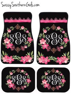 Monogram Car Accessories  Monogrammed Gift   Boho Car Accessories   Personalized Car Mats by SassySouthernGals on Etsy https://www.etsy.com/listing/168956325/monogram-car-accessories-monogrammed