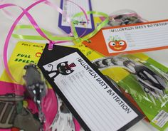 Halloween Invitation Tags  - Party Delights   #halloween #partyideas #halloweenideas