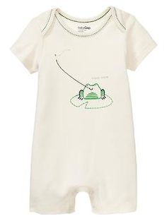 Embroidered frog one-piece | Gap
