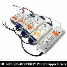 최고의 가격 18 와트/28 와트/48 와트/72 와트/100 와트 변압기 전원 공급 장치 드라이버 어댑터 LED 스트립 DC12V