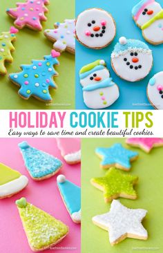 great tips for fun easy and colorful holiday cookie decorating and a super easy recipe - Christmas Cookie Decorating Tips