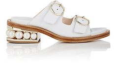 We Adore: The Casati Leather Slide Sandals from Nicholas Kirkwood at Barneys New York
