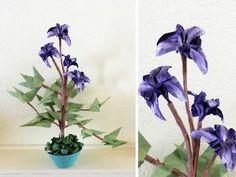 Bonsai Origami Iris