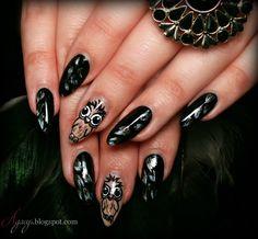 Owl nail art Owl Nail Art, Owl Nails, Body Painting, Make Up, Earrings, Beauty, Jewelry, Google, Bodypainting