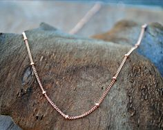 Rose Gold Necklace Layering Chain Sattelite by TiffanyAnneStudios, $24.00