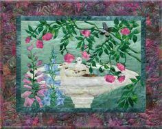 "McKenna Ryan Bird Bath Art QuIlt Sewing Pattern ""Dippity Do"" Quilt Block by FineArtbySandra on Etsy"