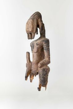 Standing male figure, Jukun peoples, Nigeria, Late 19th-early 20th century, Private Collection, Stanford, L2010.80.1