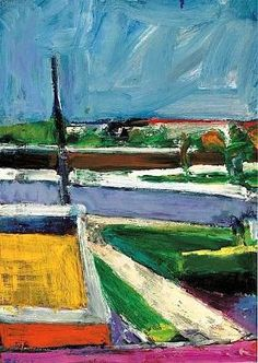 Richard Diebenkorn (1922-1993) Untitled (Landscape) From Richard Diebenkorn the Berkeley Years book