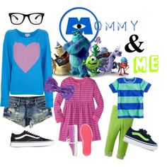 Disney Monster's Inc Mommy & Me by disneymommyandme on Polyvore
