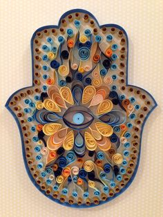 Quilled Hamsa #quilling #hand of Fatima http://www.facebook.com/hannadom1