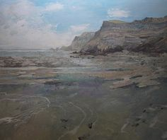 Ruth Stage, 'Coal Steam on the Fossil Coast', egg tempera, 36x42.5 inches