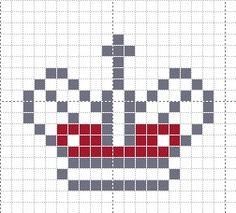 Old-timey cross stitch crown