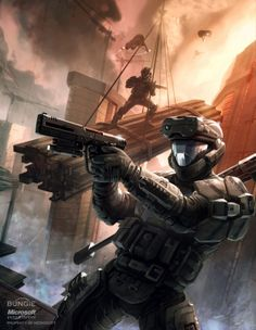 Which Halo game is your favourite? Halo 3 ODST took 14 months of development which started due to the Halo movie losing its financing and Peter Jackson stepping away. Halo 3 Odst, Halo Reach, John 117, Gi Joe, Guerra Anime, Science Fiction, Halo Armor, Halo Spartan, 343 Industries