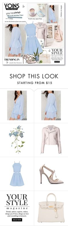 """""""Yoins55"""" by sneky ❤ liked on Polyvore featuring Rebecca Minkoff, Pussycat, Hermès, yoins and yoinscollection"""