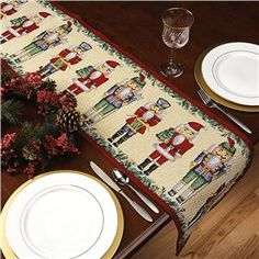 Nutcracker Table Runner::Lillian Vernon - Holiday Entertaining | Lillian Vernon.com