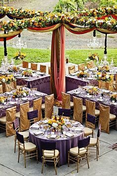 { Ask Cynthia }: Wedding Inspirations | Purple and Gold