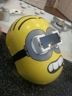 Welding Hood painted by C. Chanel