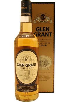Glen Grant 10 year old Scotch Whiskey, Irish Whiskey, Bourbon Whiskey, Glen Grant, World Of Whisky, Whiskey Quotes, Alcoholic Drinks, Beverages, Single Malt Whisky