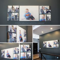 Family pictures wall display