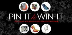 Saks current Pinterest giveaway is pretty sweet, 5 people will end up winners for a fantastic shopping spree.