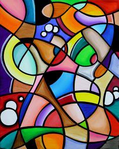 . Geometric Painting, Geometric Art, Abstract Art, Cubist Art, Bubble Painting, Art Africain, Modern Art Paintings, Sculpture Art, Watercolor Art