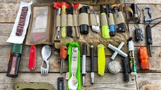Its Super Compact but can hold a Massive Amount of Survival and BugOut Gear! Get your DFS Micro+ Survival Kit . Outdoor Survival, Survival Kit, Survival Skills, Edc Backpack, Strider Knives, Cool Lock, Types Of Knives, Fishing Kit, Glass Breaker