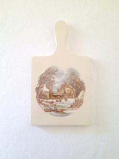 Vintage Currier & Ives Hot Plate Trivet Wall by TheLittleThingsVin, $9.00