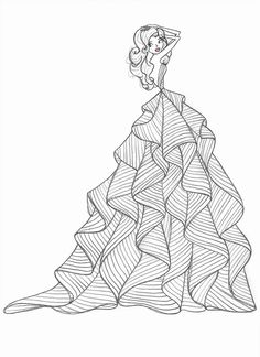 5 Questions with Designer Hayley Paige Dress Design Drawing, Dress Design Sketches, Fashion Design Sketchbook, Fashion Design Drawings, Fashion Sketches, Fashion Figure Drawing, Fashion Drawing Dresses, Fashion Illustration Dresses, Doodle Art Drawing