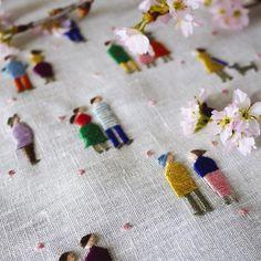 Bordados delicados por YUMIKO HIGUCHI