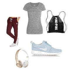 """Workout"" by cadyharris0 on Polyvore featuring NIKE, Converse, Beats by Dr. Dre, women's clothing, women's fashion, women, female, woman, misses and juniors"