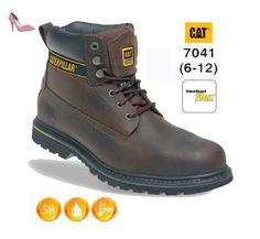 outlet store b242a f22ce Caterpillar CATHOLTBR9 Holten Chaussures de sécurité en cuir avec cousu  Goodyear Brun Taille 43 - Chaussures