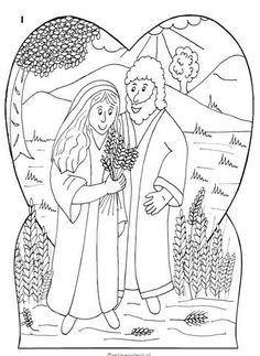 Geloven is leuk kleurplaten categorie kleurplaten for Ruth and boaz coloring pages