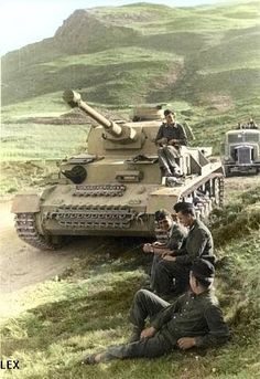 German troops (with Panzer IV G) in Caucasus Mountains.