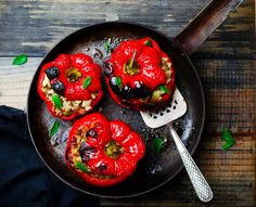 Stuffed & Roasted Bell Peppers