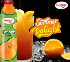 Nothing beats the heat like this delicious Orange Squash.  